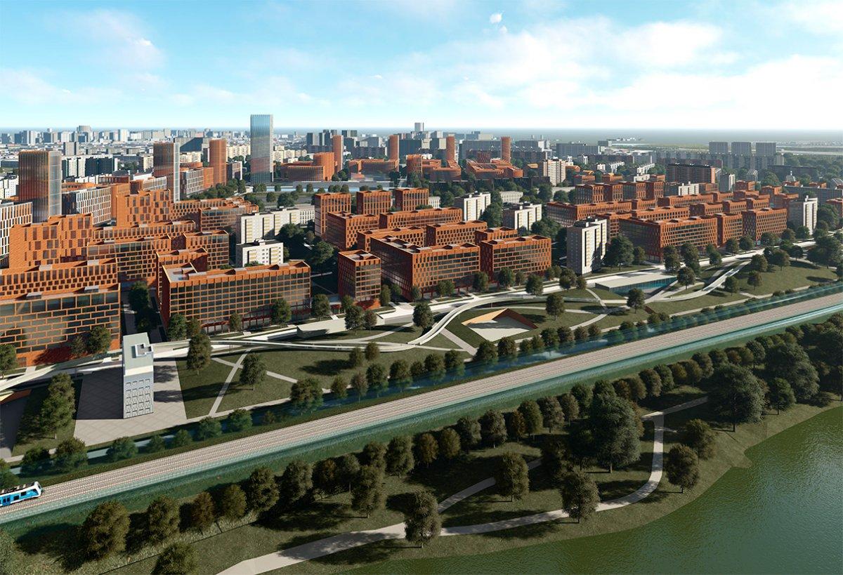 Вариант застройки в Царицыно от архитектурного бюро Сергей Скуратов