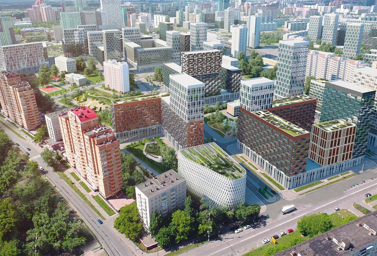 Хорошево-Мневники проект застройки АМ UNK Projekt + Nikken Sekkei