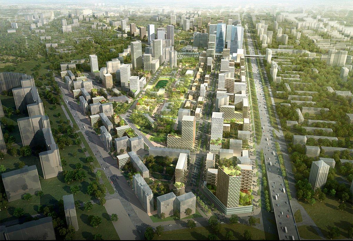 архитектурный концепт застройки квартала в кузьминках