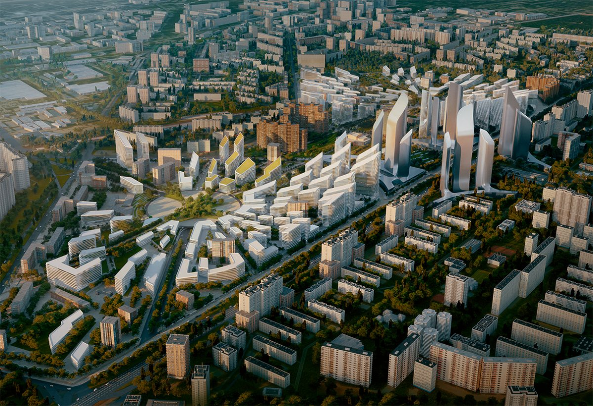 Вариант застройки в Кузьминках от Zaha Hadid Architects.
