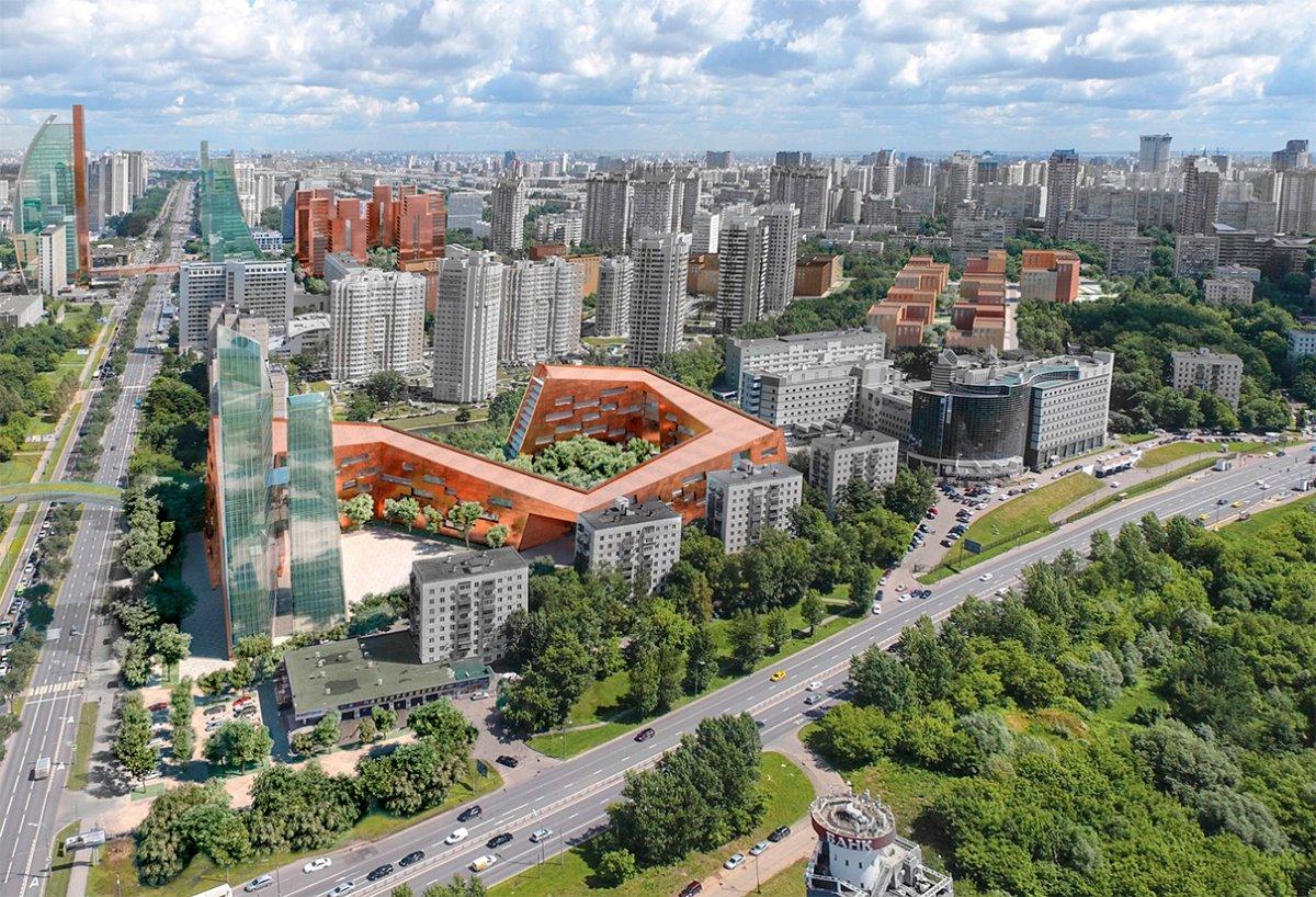 Проект застройки в районе Проспекта Вернадского от Мастер план и Bofill