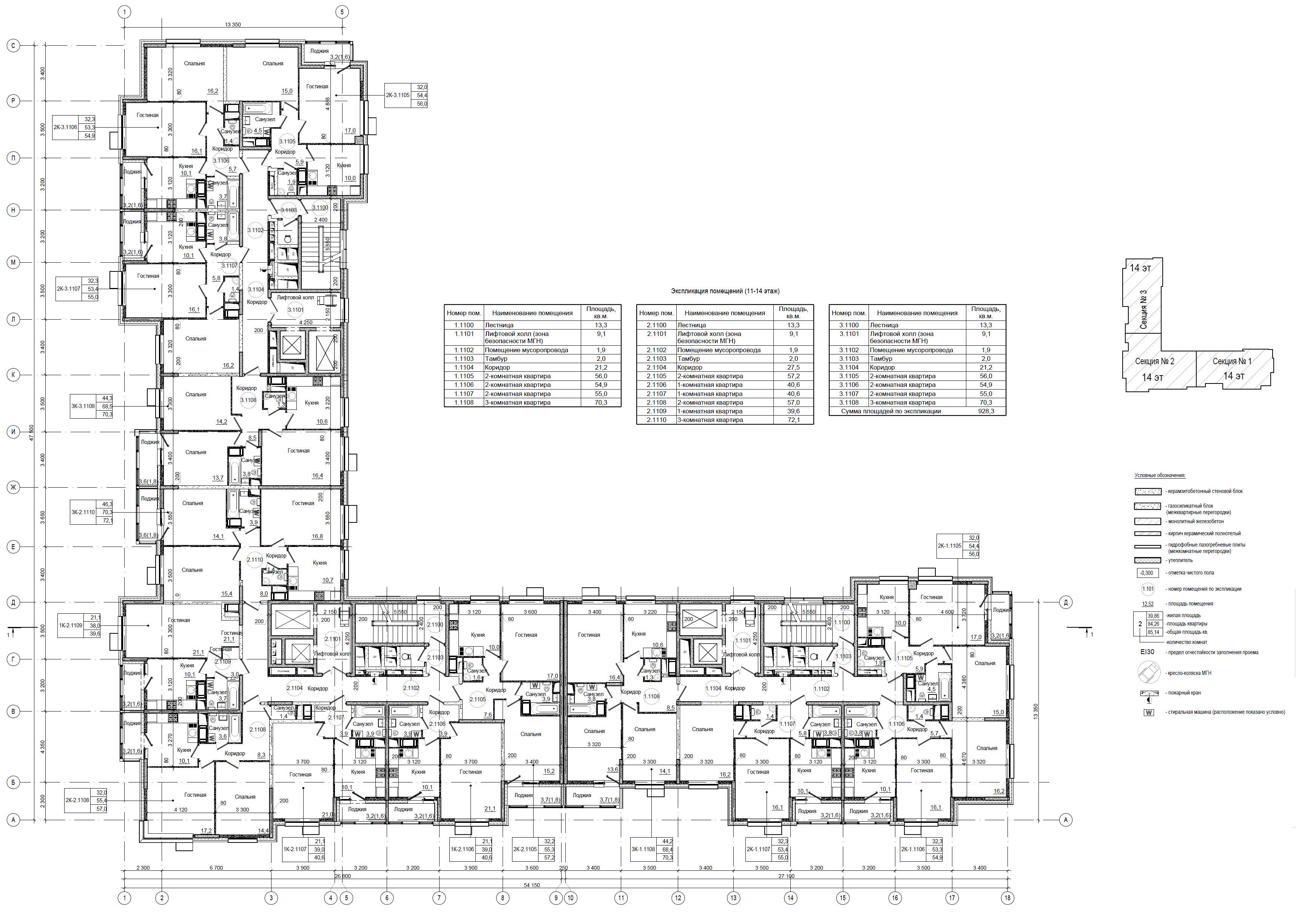 Старое Крюково (ЗелАО) 9 квартал началось строительства дома под реновацию планировки квартир