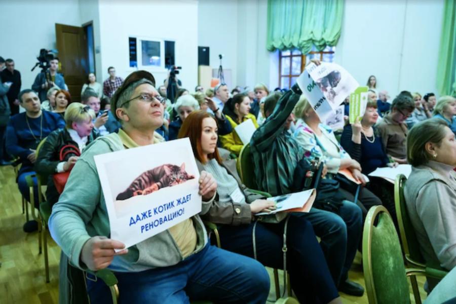В Люблино прошли слушания по реновации района