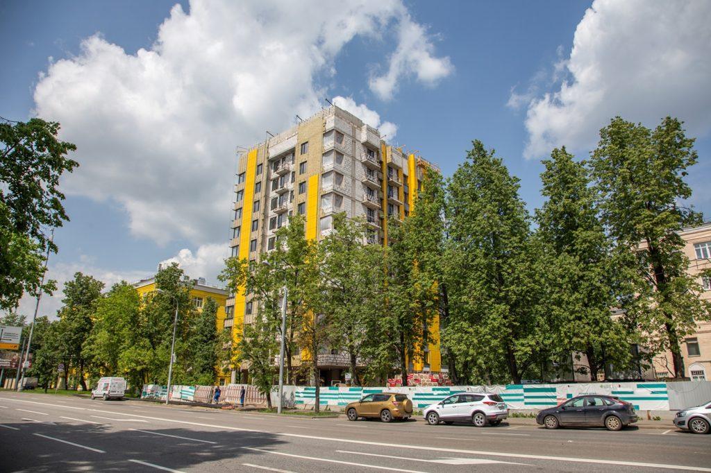 Дом по реновации на 69 квартир введут в районе Кунцево на Молодогвардейской улице, вл. 44
