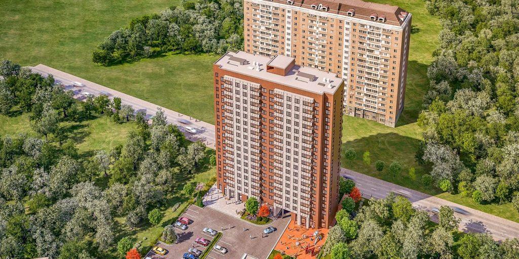 В Войковском районе строится дом по программе реновации по адресу: Нарвская улица, владение 5