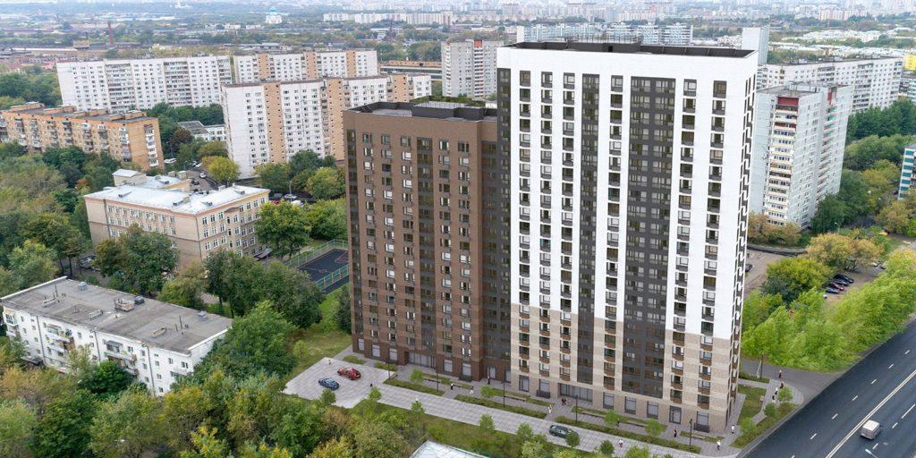 Двухсекционный дом введут до конца года в районе Люблино на улице Верхние Поля вл. 19 к 2