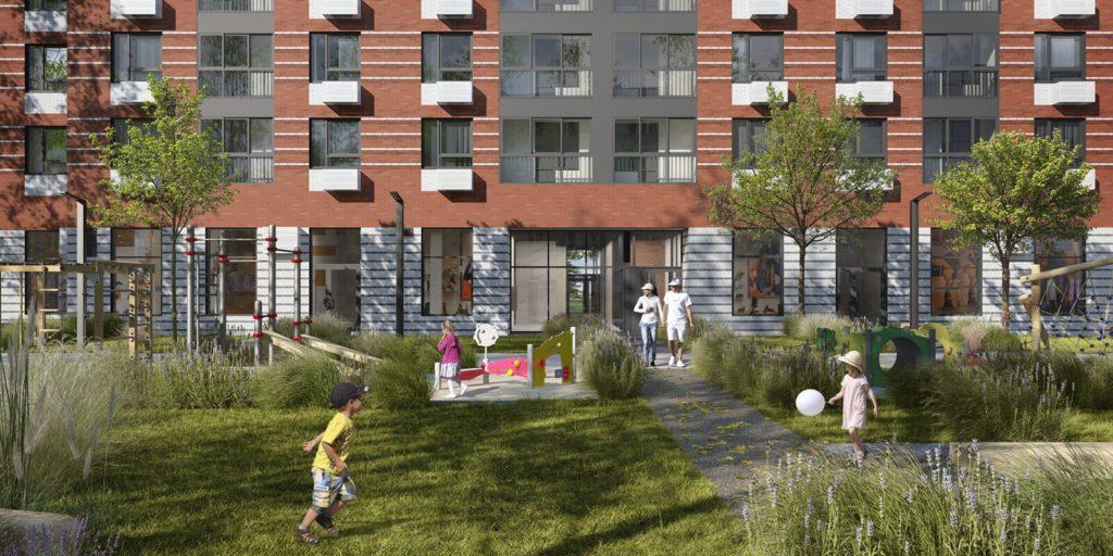 В Западном Бирюлеве по адресу: Харьковский проезд, владение 1/1 введут в эксплуатацию три корпуса жилого дома в 2021 году