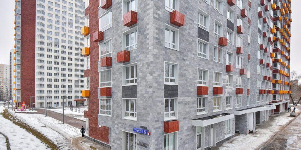 Дом по программе реновации построили на Кастанаевской улице вл 44-49 к2