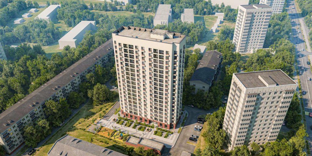 Дом по программе реновации начали строить на Болотниковской улице вл.43