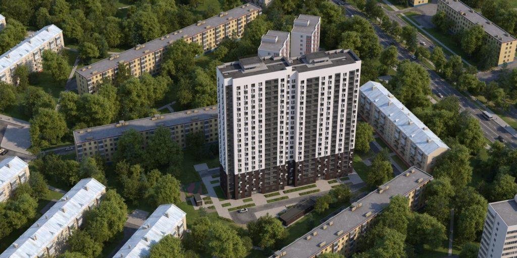 Завершается строительство дома по программе реновации в Головинском районе по адресу: Кронштадтский бульвар, владение 55а