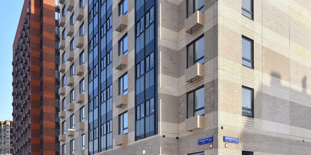Два дома построили по программе реновации в Люблине по адресу: Люблинская улица, владение 111, корпус 2.